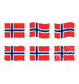 norway flag set official vector image vector image