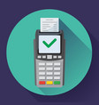 payment machine and credit card terminal icon vector image