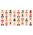 people avatar multiethnic square portraits vector image