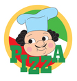 Pizza Chef Label vector image