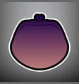 purse sign violet gradient vector image