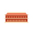 red building icon flat style vector image vector image