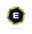 Retro bright colors Logotype Letter E vector image vector image