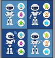 robot contemporary style set vector image vector image