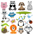 set animals vector image