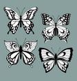 set decorative butterflies vector image