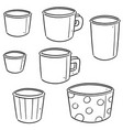 set of paper cup vector image vector image
