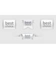 set of paper labels vector image vector image