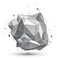 Spatial technological shape polygonal single color vector image vector image
