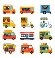 street food festival color trailer vector image vector image