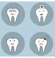 teeth set Dental collection for your design vector image
