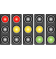 Traffic light with a light vector image