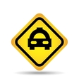 traffic sign concept icon car taxi vector image vector image