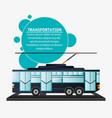 tram urban passenger transport vector image vector image
