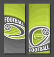vertical banners for football vector image vector image