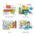 video communication back to school courses vector image vector image