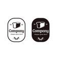vintage retro label emblem bakery logo icon vector image vector image