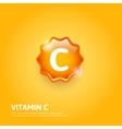 Vitamin C label vector image