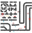 water pipes and taps collection steel vector image