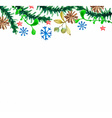 Watercolor beautiful Christmas card vector image