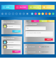 Web elements Site navigation menu vector image vector image