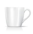 white big cup vector image vector image