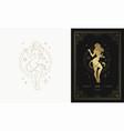 zodiac leo girl character horoscope sign line art vector image