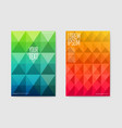 abstract poster mosaic background triangular vector image
