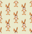 cute bunny pattern background seamless vector image