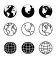 earth icons set vector image