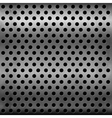 Gray metallic plate with perforation vector image