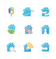 set of real estate logo combination house and vector image