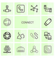 14 connect icons vector image vector image