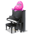 A monster crying above the piano vector image vector image