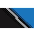 abstract blue black grey line shadow slash vector image vector image