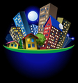abstract city at night vector image vector image