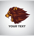angry lion mascot logo vector image vector image