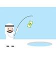arab businessman use banknote and fishing rod vector image vector image