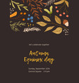 autumn mood background concept fall themed vector image