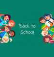 back to school kids isolated vector image vector image