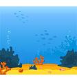 background underwater vector image