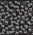 black and white halloween pattern with spiders vector image