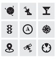 black navigation icons set vector image vector image