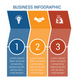 business infographic design for timeline three vector image vector image