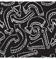 Chalkboard design elements Arrows Seamless pattern vector image vector image