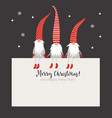 christmas card seasons greetings vector image