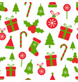 christmas pattern with holly berries ballsgift vector image vector image