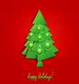 Christmas tree and balls vector image vector image