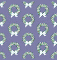christmas wreath pattern vector image vector image