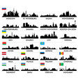 city skyline eastern and northern europe and vector image